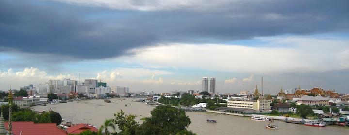 a stunning view of bangkok, thailand