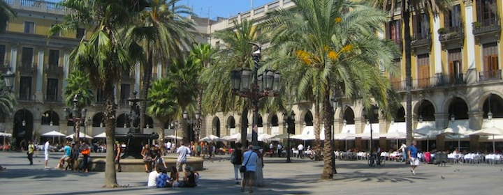 barcelona spain is an old, historic, and lively city