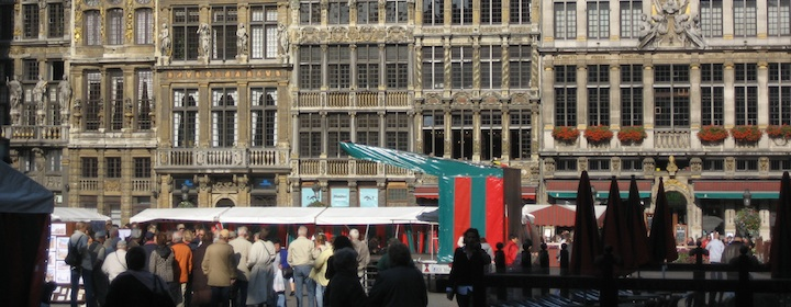 Tracing the beautiful cobblestone squares while traveling in Belgium