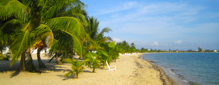 Sitting on one of the many beautiful beaches in Belize