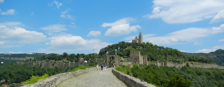 visiting the old castle in veliko tarnovo, Bulgaria