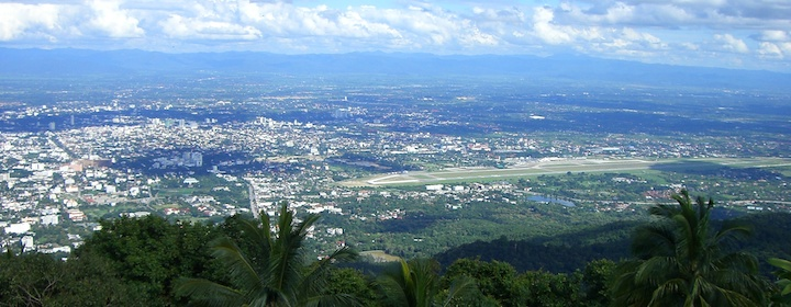 a view of chiang mai Thailand