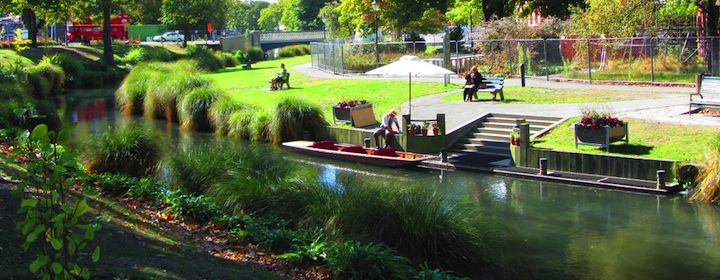 The beautiful garden in Christchurch, new zealand