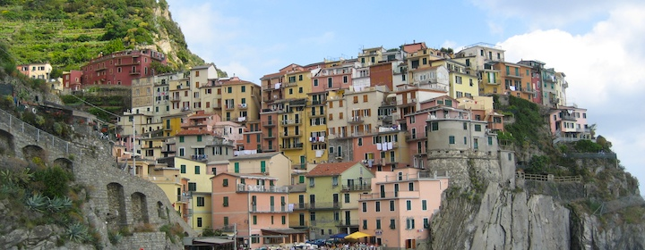 Hiking through Cinque Terre along the coast of Italy
