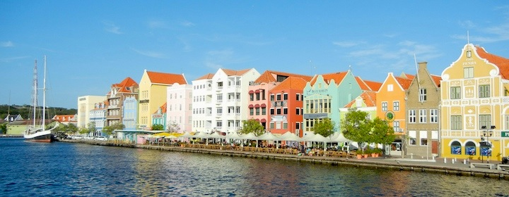 Relaxing on the beautiful beaches of Curacao in the Caribbean