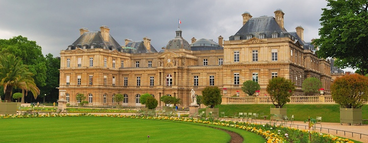 A historic chateau in the countryside of France