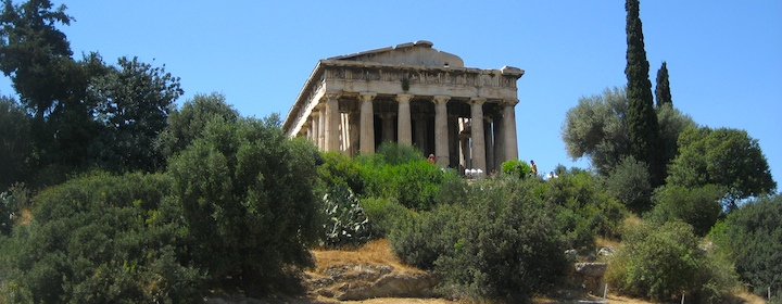 the ruins of ancient greece