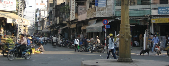 the hustle and bustle of the streets of saigon