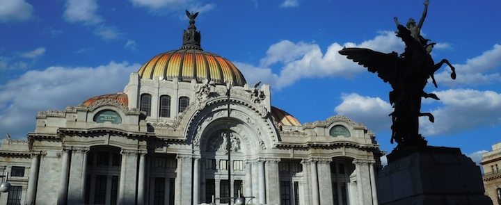 Old historic buildings in Mexico City, Mexico