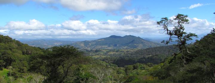 Overlooking the mountains near Leon, Nicaragua