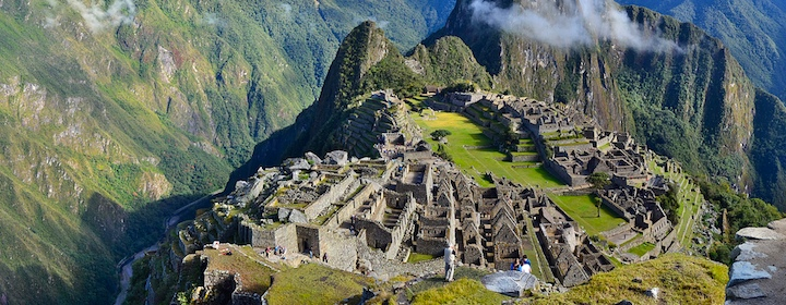 Exploring the ruins of machu picchh in Peru