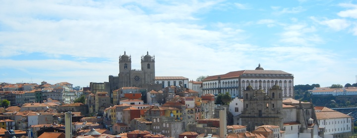 The beautiful skyline in Porto