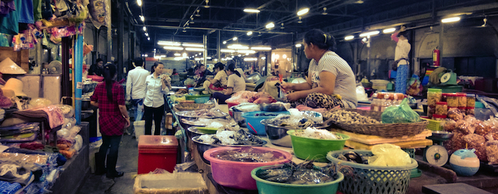 Visiting the markets of Siem Reap, the gateway to Angkor Wat, Cambodia