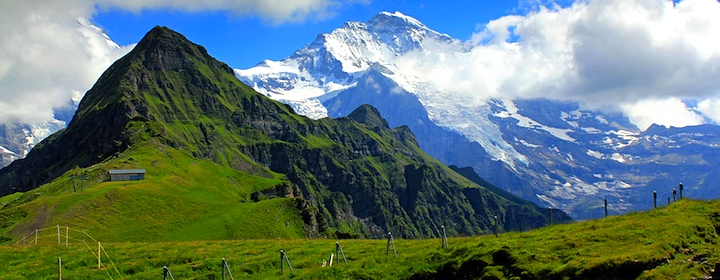 the beautiful mountain landscapes of switzerland