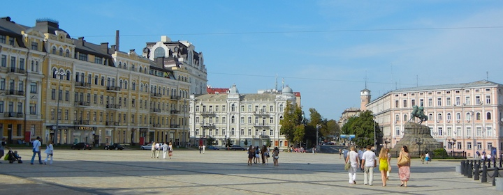 Exploring the historic streets of Ukraine while traveling in Eastern and Central Europe