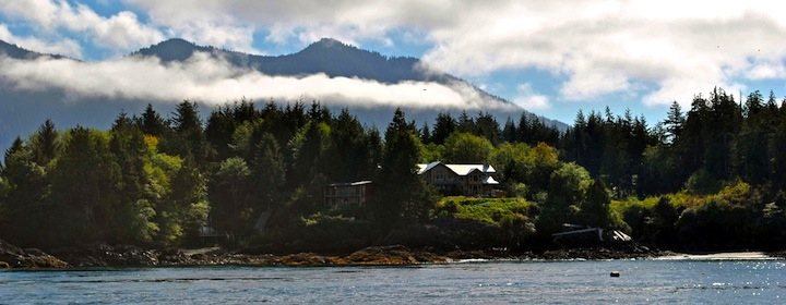 The mountains and forests of Vancouver Island in Canada