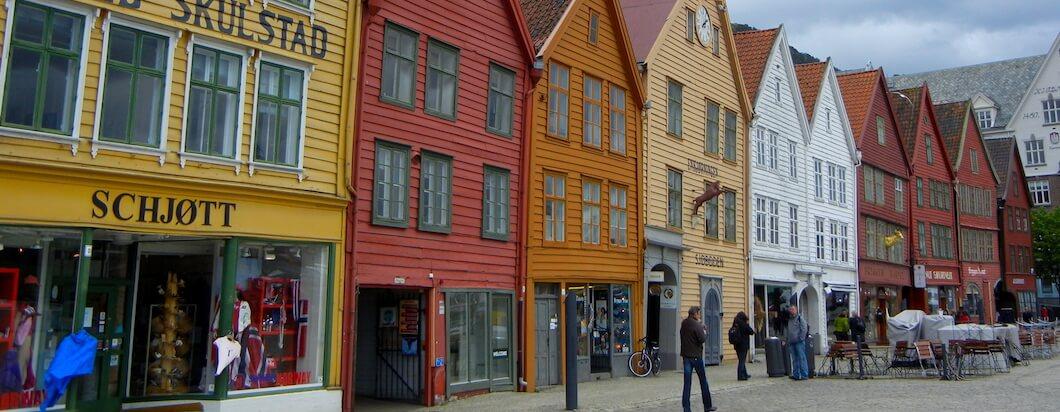 Getting a bird's eye view of Bergen, Norway