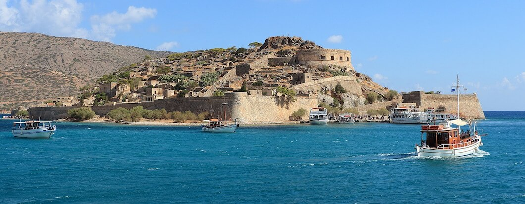 An ancient Greek fort on the island of Crete