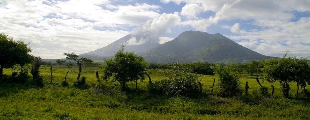 Overlooking the mountains near Leon, Nicaragua