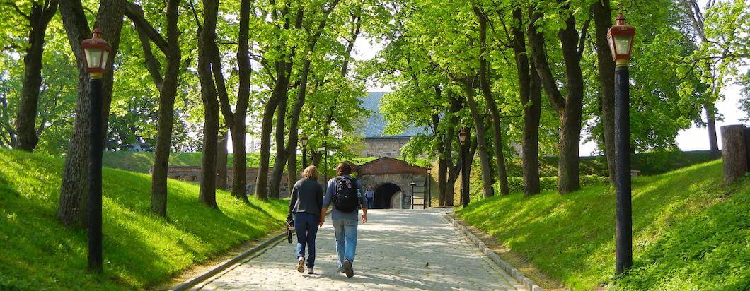 Spending time walking around Oslo, Norway
