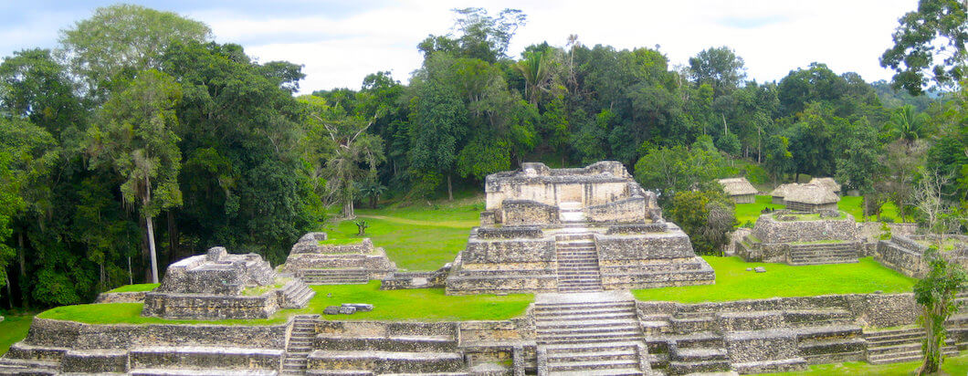 Learning about the San Ignacio Ruins while traveling in Belize