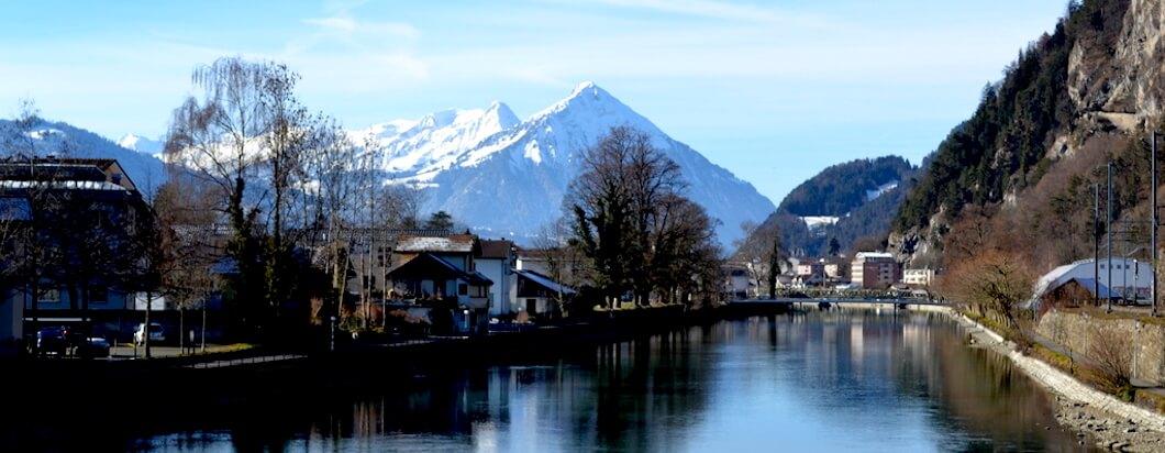 the beautiful mountain landscapes of switzerland
