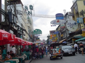 Backpackers on Khao San Thailand