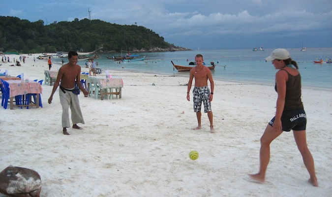 People playing on the beach in Ko Lipe