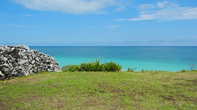Imagine this as your view. The Mayans had great beachfront property!