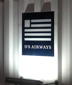 us airways logo sign