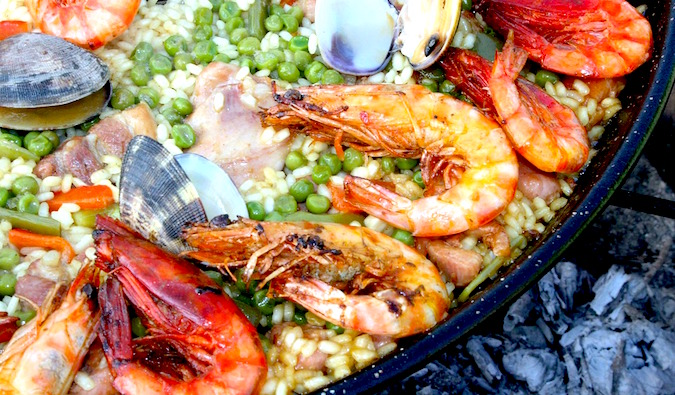 Seafood Paella in Spain