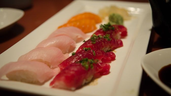 The Yellowtail serves the best colorful plate of sushi at the Bellagio