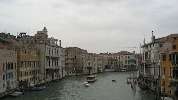 Venice Italy grand canal from a bridge
