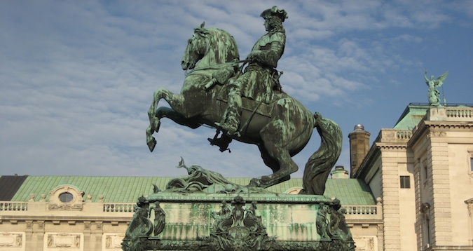 vienna sculpture with a man and a horse