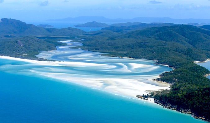 beautiful view of the whitsunday islands