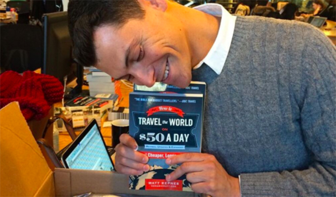 Matt with his book