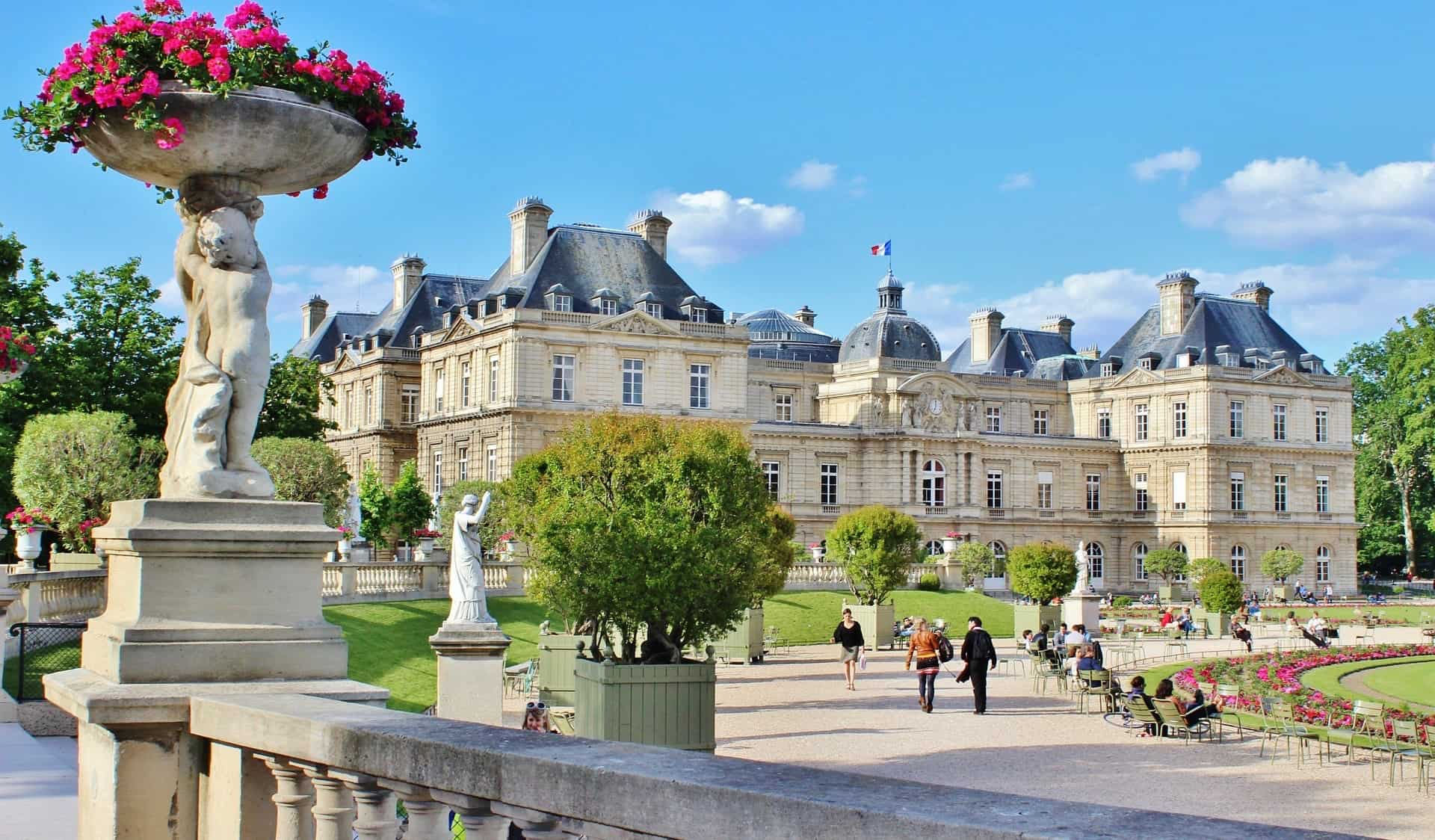 The Gardens of Luxembourg in Paris