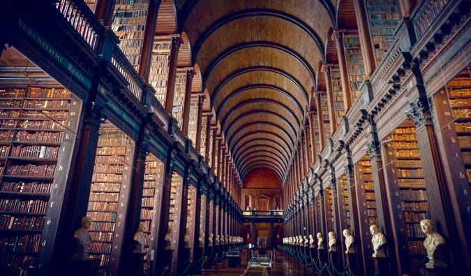 the library at trinity college