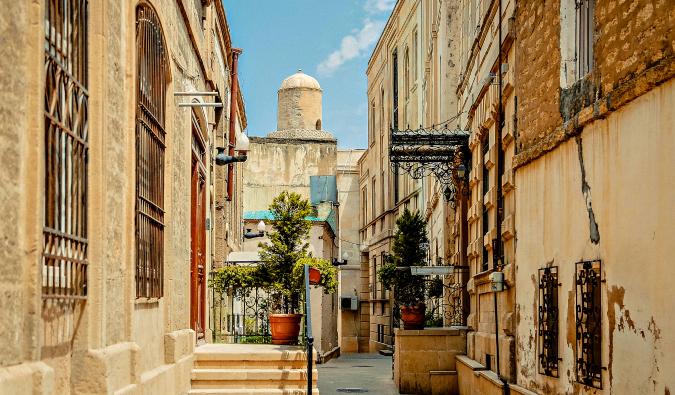 pretty streets in Baku, Azerbaijan