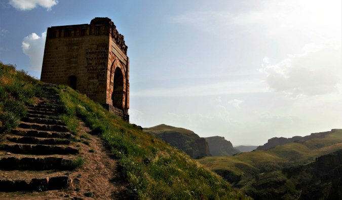 a scenic view in Azerbaijan