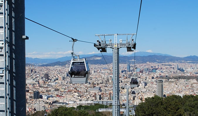 riding the harbor cable car in Barcelona; Photo by Ivan Mlinaric (flickr:@eye1