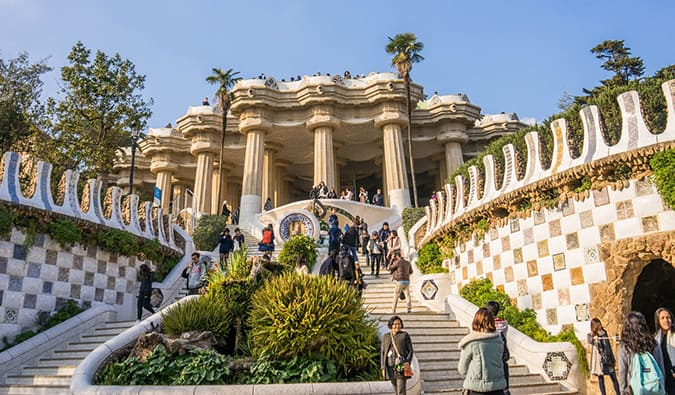 Gaudi architecture in Barcelona