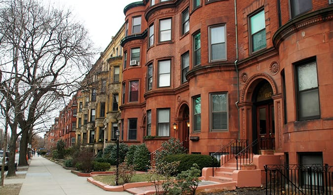 Victorian homes in Brookline, Boston