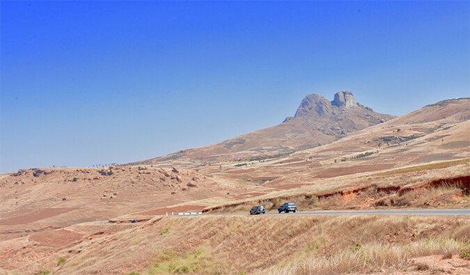 A rough road in Madagascar