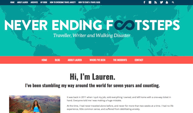 never ending footsteps blog screenshot