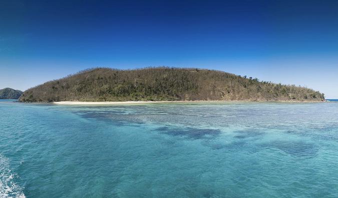 looking at the stunning Yasawa Islands in Fiji