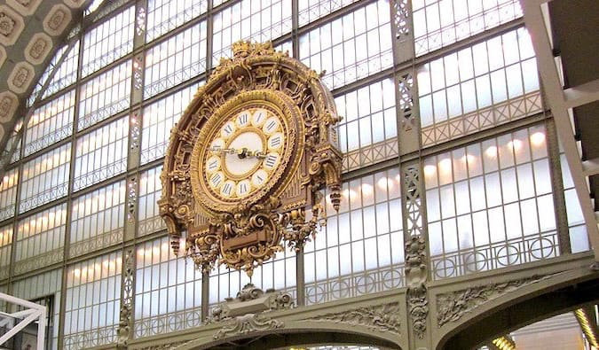 iconic clock at musee d'Orsay