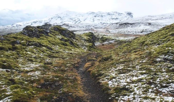 a hiking trail in Reykjavik