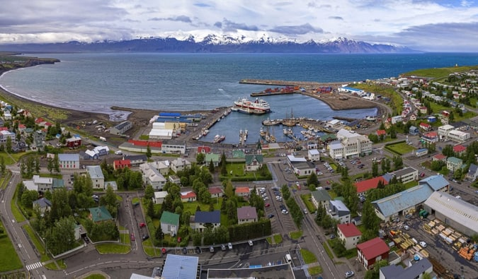 the colorful city of Akureyri in Nothern Iceland