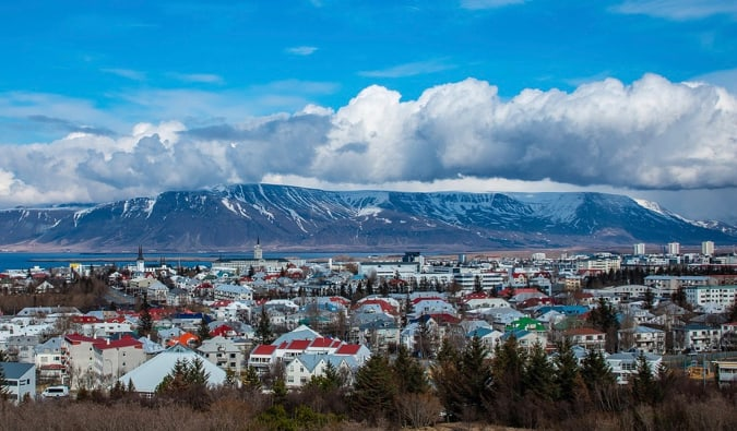 the colorful buildings of Reykjavik, Iceland